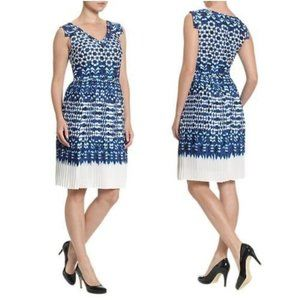 Adrianna Papell Womens Fit & Flare Dress Plus 18W
